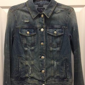 NWOT AEO Super Stretch Denim Jacket, Large